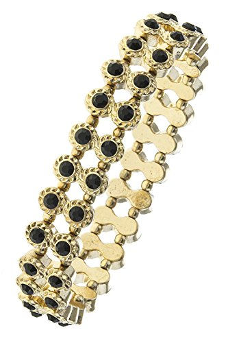 BAUBLES & CO CRYSTAL LINED DOUBLE ROW BRACELET (Black)