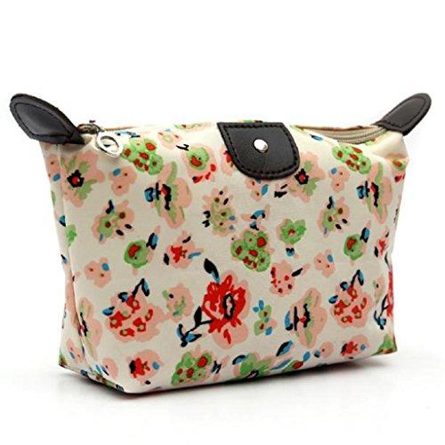 Waterproof Lines Nylon Cosmetic Bag Travel Wash Pocket - 4