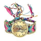 MINILUJIA Dreamcatcher Handmade Bracelet Women Wrist Watch with Free Colorful Rope Bracelet