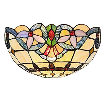 "Chloe Lighting CH33313VI12-WS1 Cooper Tiffany-Style Wall Sconce with 12"" Wide"