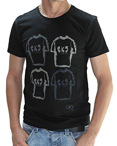 Klein T Noir Homme Calvin Cmp07v Shirt wBaqUUg
