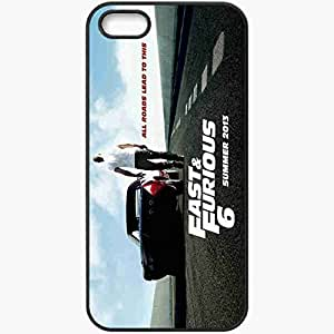 Personalized iPhone 5 5S Cell phone Case/Cover Skin Movie Fast And Furious 6 Case 2013 1935 Black