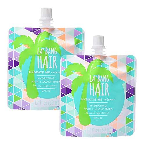 La Bang Body Repair Me Malibu Hair Mask - Natural Vegan Ingredients - 2 Packs, 1.7 Fl. Oz./50ml