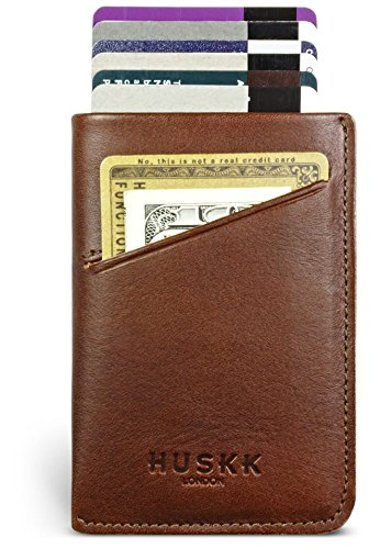 Wallets for Men - Mens Wallet - Up to 10 Cards & Cash by HUSKK - [CSC-DB] - Dark Brown ()
