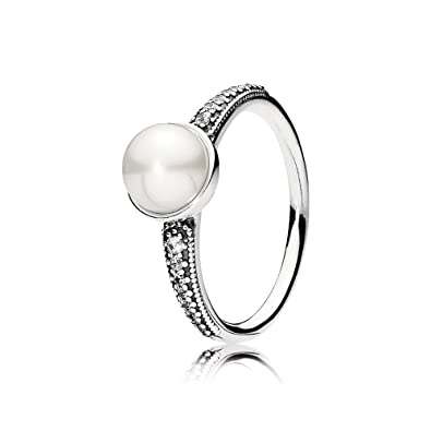 e93be0a6f Image Unavailable. Image not available for. Color: Pandora Elegant Beauty  Ring, White Pearl ...