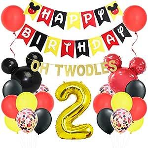 Decoraciones para el segundo cumpleaños de Mickey Mouse ...