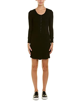 Amazon David Lerner Womens Ribbed T Shirt Dress Xs Black