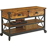 Better Homes and Gardens Rustic Country Antiqued Black/Pine Panel TV Stand for TVs up to 52''