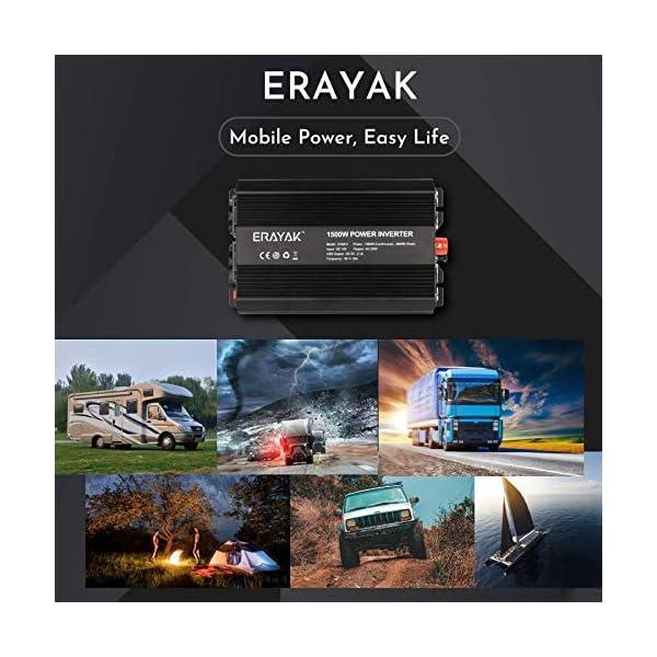 ERAYAK Spannungswandler 12v 230v 1500W/3000W KFZ Wechselrichter 12v auf 230v Power Solar Inverter DC AC 12v steckdose…