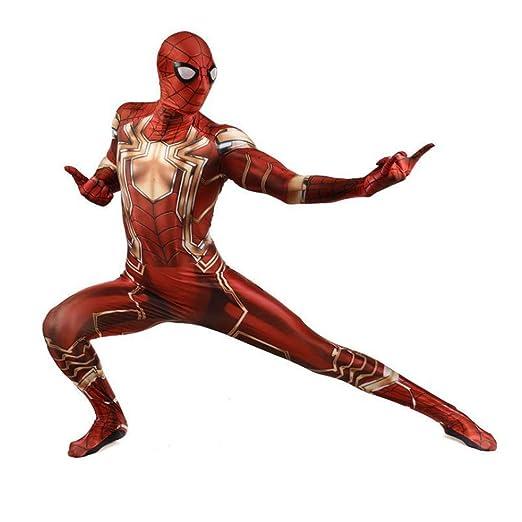 ZHANGQI Iron Spiderman Cosplay Medias para Hombre Anime Play ...