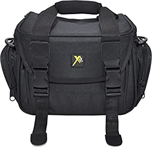 Xit XTCC4 Deluxe Digital Camera/Video Padded Carrying Case, Medium (Black)