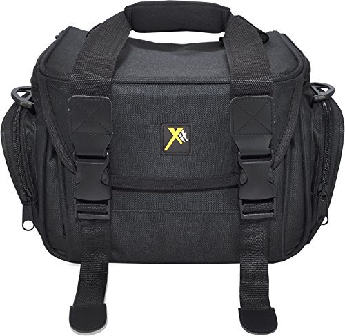 Xit XTCC4 Deluxe Digital Camera/Video Padded Carrying Case, Medium (Black)