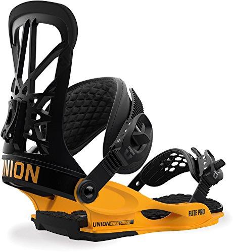 Union Flite Pro Snowboard Bindings Black/Yellow Mens Sz M (7-10)