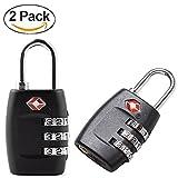 TSA Approved Luggage Locks 2-pack 3 Digit Combination Security Padlock Suitcase Luggage Lock Travel Backpack