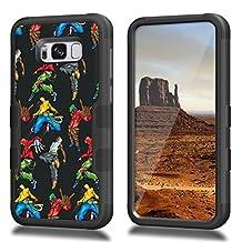 Galaxy S8 Plus Case, CASECREATOR[TM] For Samsung [Galaxy S8 Plus]/G955 ()~NATURAL TUFF Hybrid Rubber Hard Case BB-Hip Hop Dancers