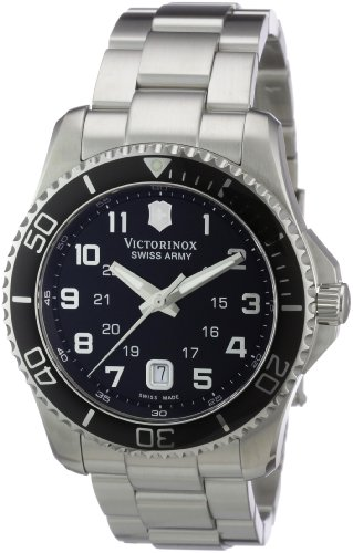 - Victorinox Swiss Army Men's 241436 Maverick Stainless Steel Black Dial Watch