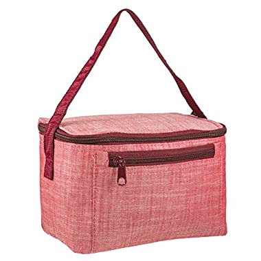 Kids Square Reusable School Lunch Bag - Red Chambray