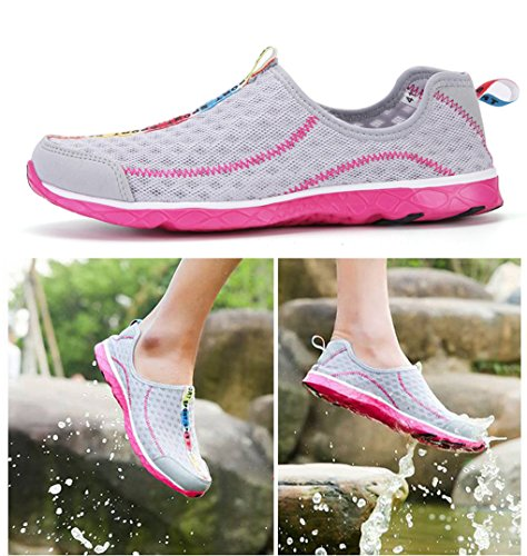 Surf Air Summer Mesh Aqua Breathable Exercise Gray Dovaly Skin Water Shoes Shoes Flats Men I0wndqf