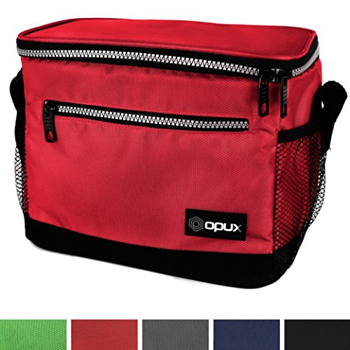 OPUX Premium Insulated Lunch Bag with Shoulder Strap | Lunch Box for Adults, Kids | Soft Leak Proof Liner | Medium Lunch Cooler for Office, School | Fits 6 Cans (Six Pack Cooler Kit)