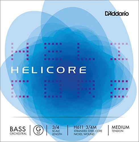 D'Addario Helicore Orchestral 3/4 String Bass G String - Medium - Nickel/Steel from D'Addario