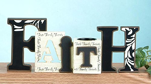 StealStreet Cutout Word Collectible Faith with Tea Light Candle Holder