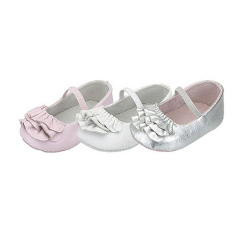 IM Link Baby Toddler Girls White Ruffle Ballerina Style Summer Shoes Size 0-5
