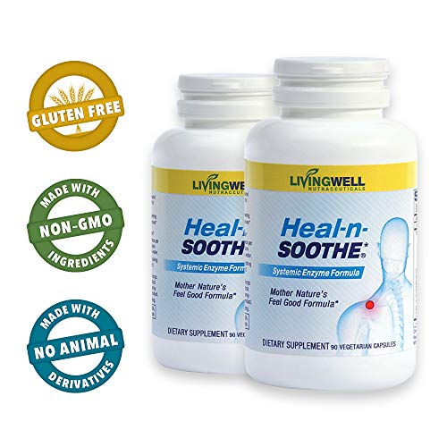 HEAL-N-SOOTHE 180 Count Two Pack Pain Relief Anti Inflammatory Supplement
