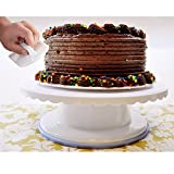 IBeaty Cake Turntable - 4 Inches Tall - 360 Degree Rotating Cake Stand with ...