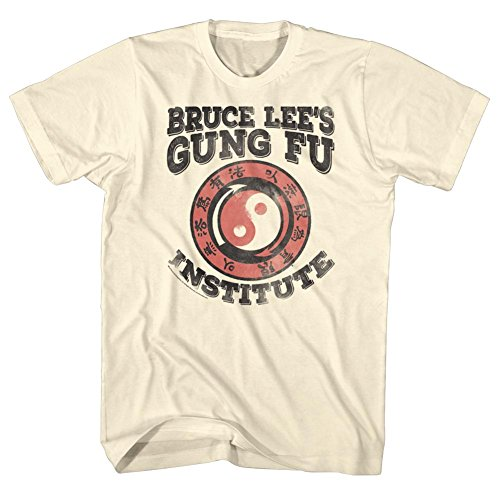 Bruce Lee Chinese Martial Arts Icon Gung Fu Institute Adult T-Shirt Tee