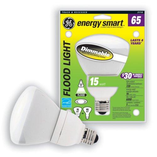 GE 21710-3 15-Watt (65W Equivalent) Energy Smart Floodlight Dimmable R30 Light Bulb, 3-Pack