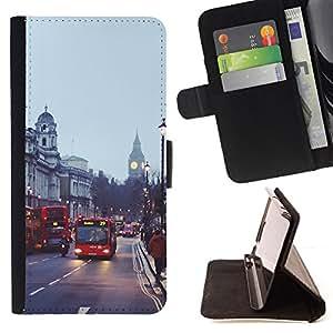 Jordan Colourful Shop - Bus street England city For Apple Iphone 5C - Leather Case Absorci???¡¯???€????€??????????&
