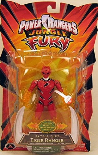 Power Rangers Jungle Fury Red Battle Fury Tiger Ranger Action Figure (Power Rangers Jungle Fury Red Ranger Toy)