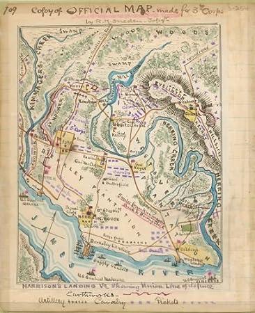 Amazoncom 1862 Map Harrisons Landing Va Showing Union Line Of - James-river-on-us-map