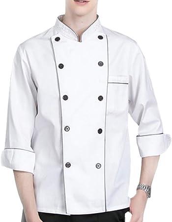 WMOFC Unisexo Chaqueta Chef,Camisa De Cocinero,Transpirable ...