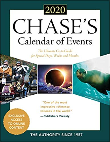 2020 Calendar With Special Days Amazon.com: Chase's Calendar of Events 2020: The Ultimate Go to
