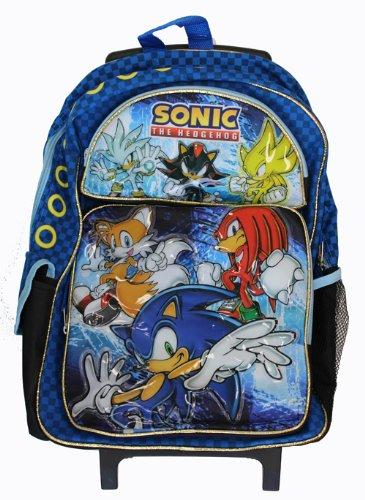Sega Sonic The Hedgehog - Mochila con ruedas (tamaño grande, 40 cm)