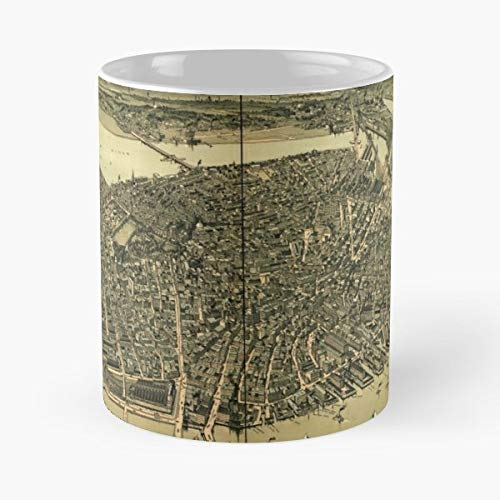 Panoramic Maps Boston 1899-11 Ounce For Coffee, Tea, Cocoa And Mulled Drinks, The Best Gift Holidays. ()