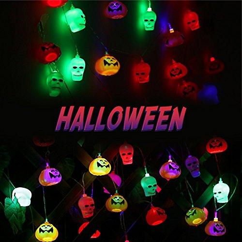 Rope Lights Woodies: WOODYGAGA Halloween Pumpkin Lantern Colorful Lamp, 16 LED