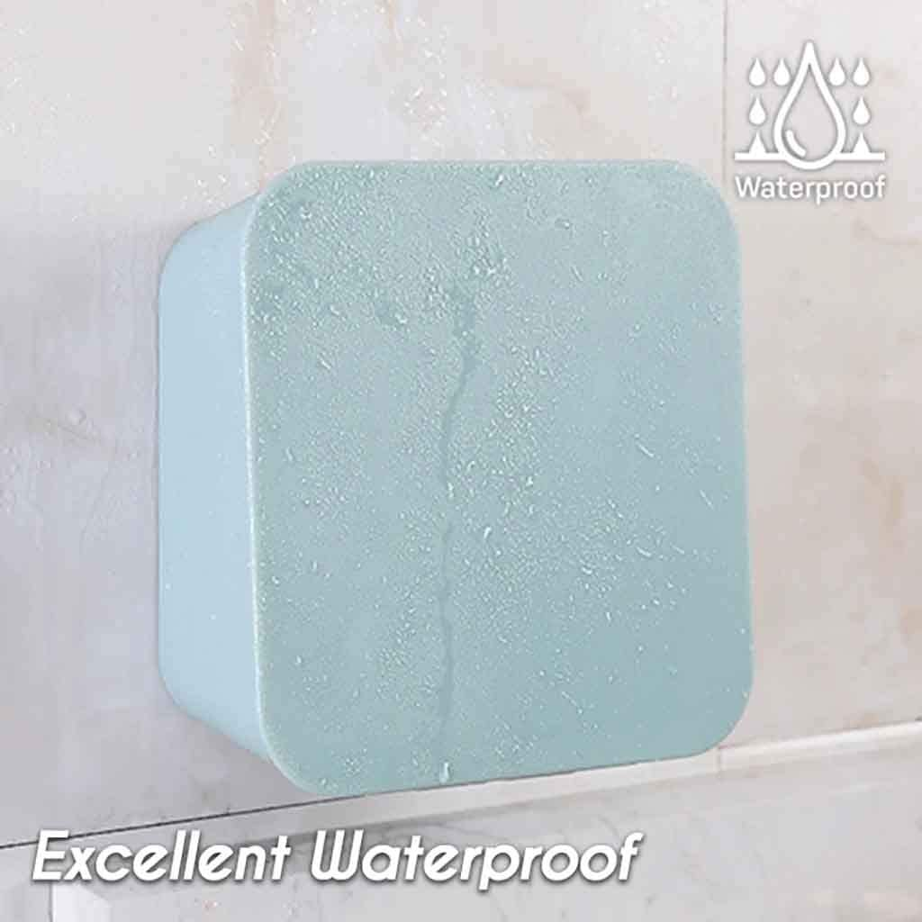 Blue BOLUOYI Waterproof Wall-mounted Organizer Creative Multifunction Home Bathroom Toothbrush Holder