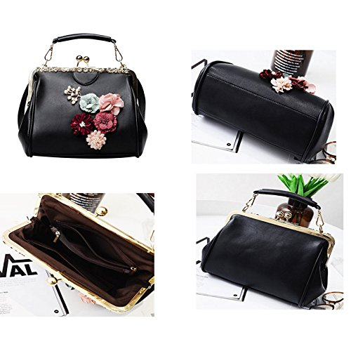 Donalworld Women Retro Hollow out PU Leather Handbag S Pt13 by Donalworld (Image #4)