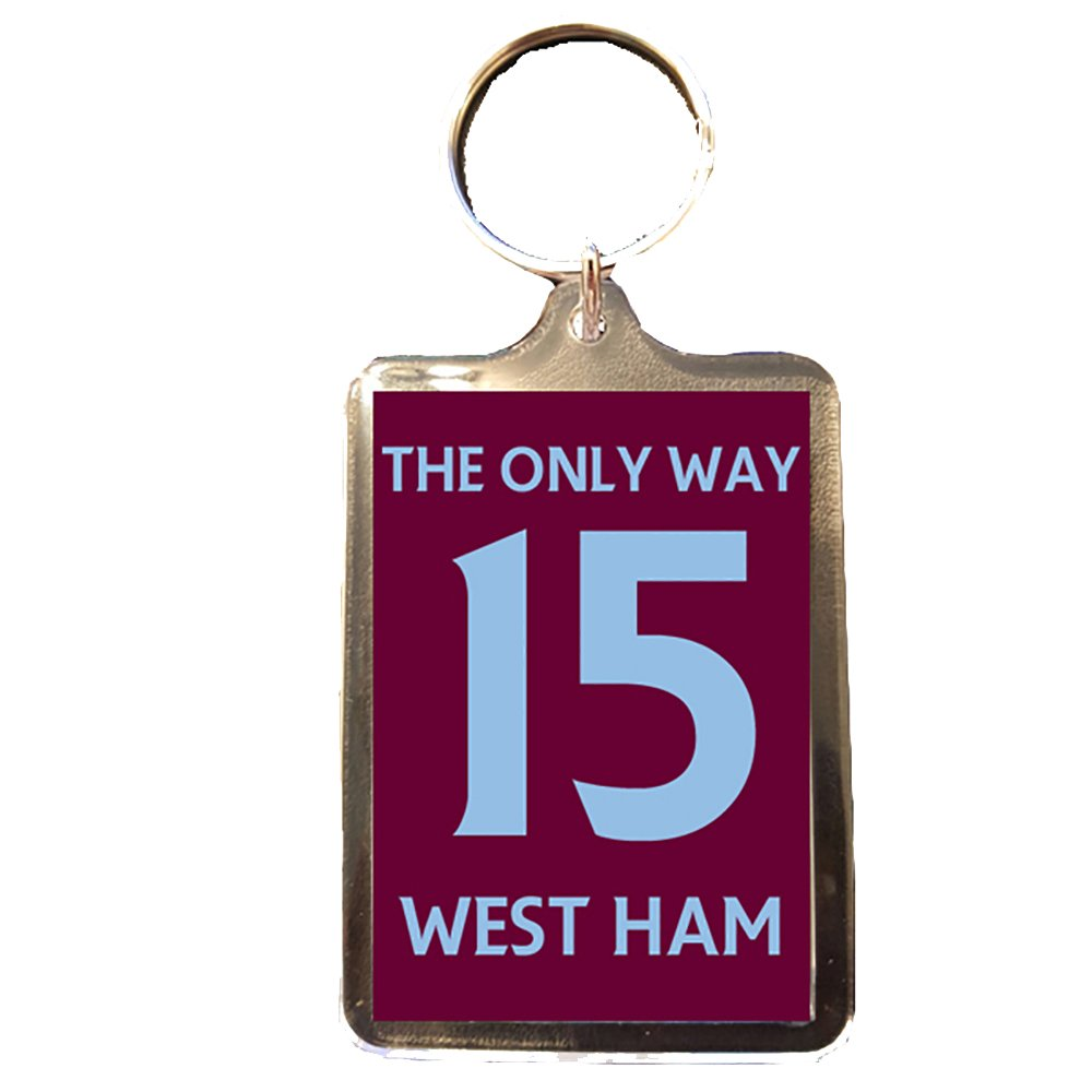 La única manera 15 West Ham United F.C - Llavero: Amazon.es ...