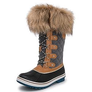 Kingshow Women's Globalwin 1707wheat/Grey Waterproof Winter Boots - 9 D(M) US Women's