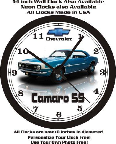 (1968 CHEVROLET CAMARO SS WALL CLOCK-FREE USA SHIP-Choose 1 of)