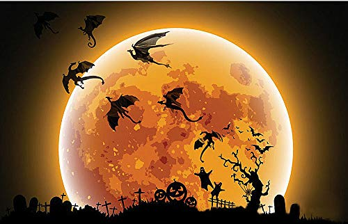 7Pcs / Lot Gothic Wallpaper Stickers Game Power Inspired 3D Dragon Decoration]()
