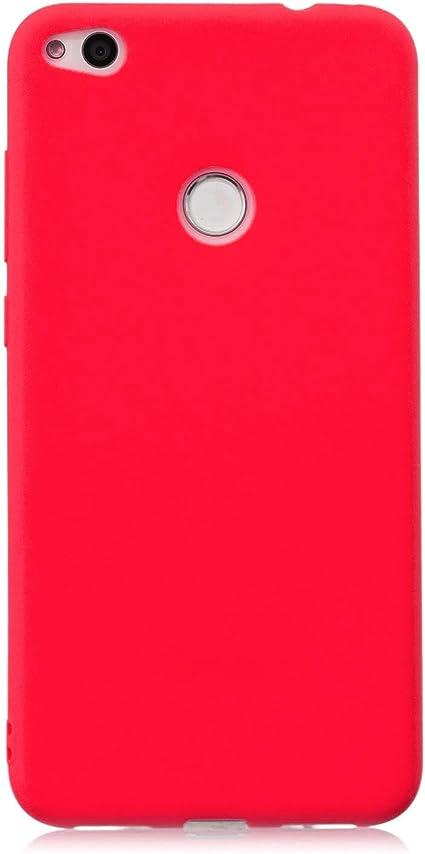 cuzz Coque Huawei P8 Lite (2017) {1 Pièces Protège Écran en Verre Trempé}Couleur Unie Premium Flexible Souple Silicone TPU Etui Mince Ultra-Lumière ...