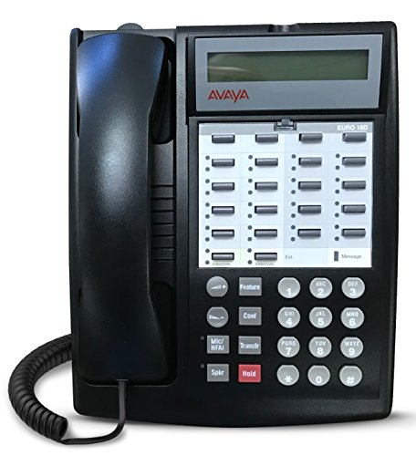 Avaya Partner Euro 18D Set - Black, Refurbished, Six Month Warranty ()