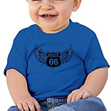 NEVA Cotton T Shirts Route 66 Logo For Infant Baby Boys/Girls