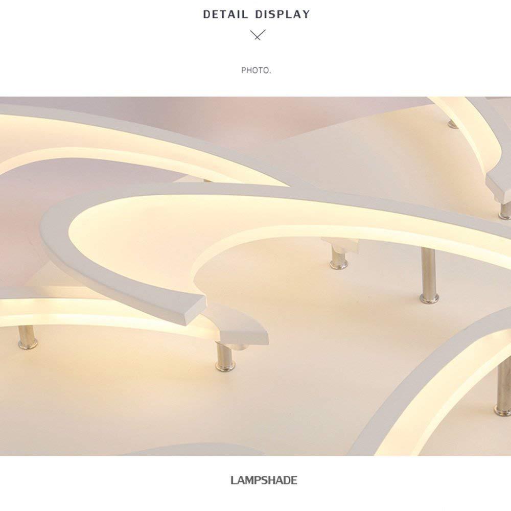 TINS 72W LED Lampada da soffitto Moderna Calda Lampada da soffitto bianca Soggiorno Lampadario Camera da letto Illuminazione della stanza Lampada da soffitto AC 220V-240V