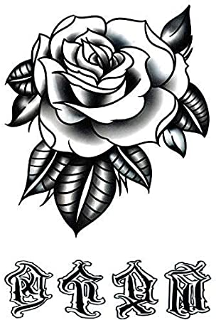 Old School Tattoo SKM002 - Tatuaje falso de rosas: Amazon.es: Belleza