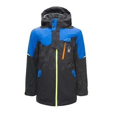 79f255478 Spyder Kids Boy's Tordrillo Jacket (Big Kids) Cloudy Reflective Distress  Black/Black/